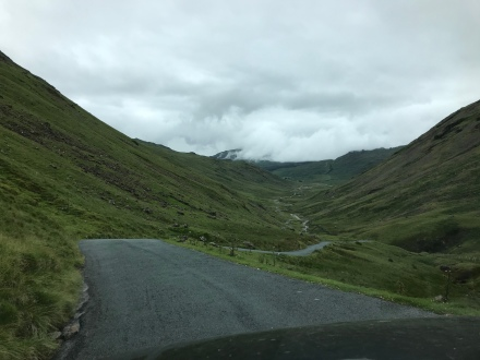 Hardknott Pass, steepest road in England,