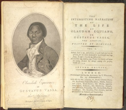 The book by Olaudah Equiano.